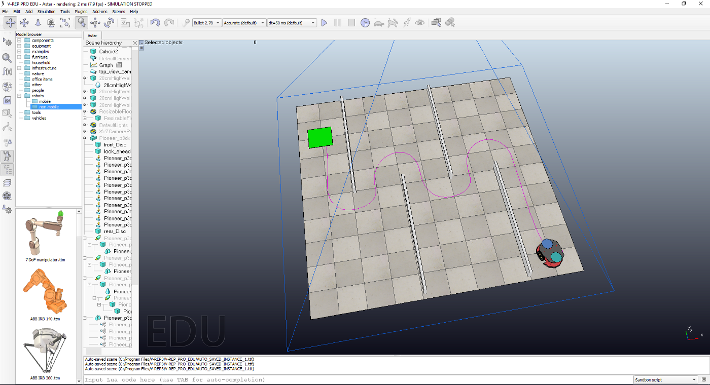 Path tracking tutorial for pioneer robot in vrep - Ahmed Essam El