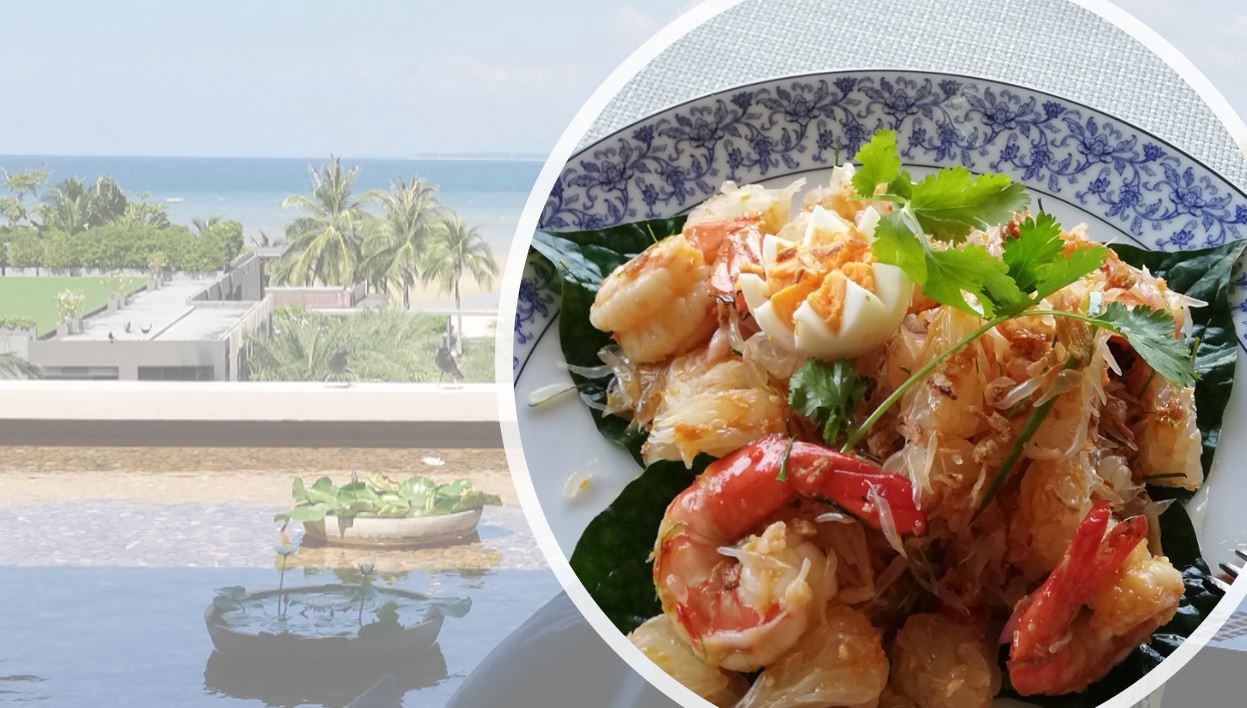 Photo by Ching Ching—Pomelo salad and the beach at Thailand