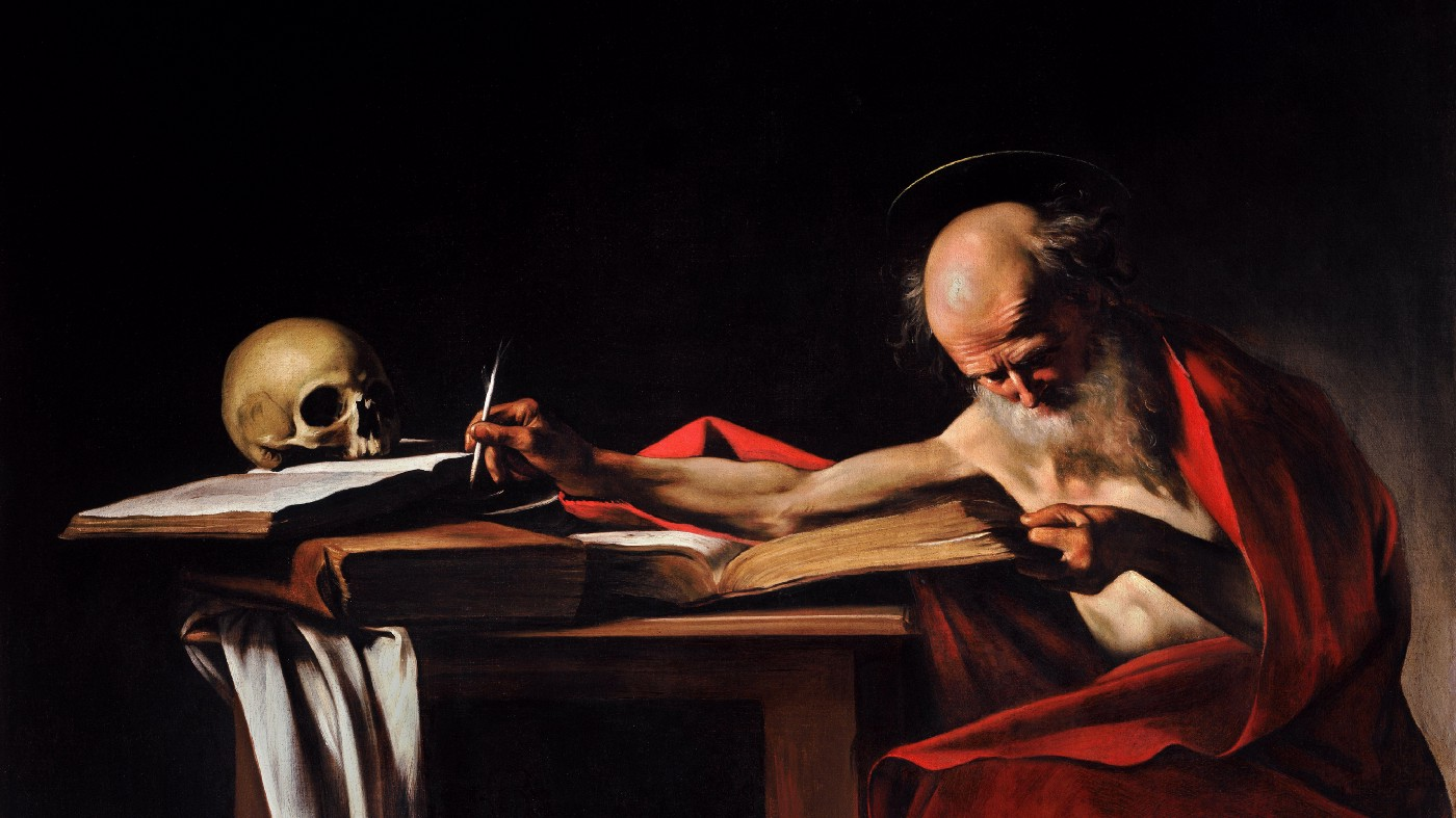 Saint Jerome Writing, a painting by Caravaggio