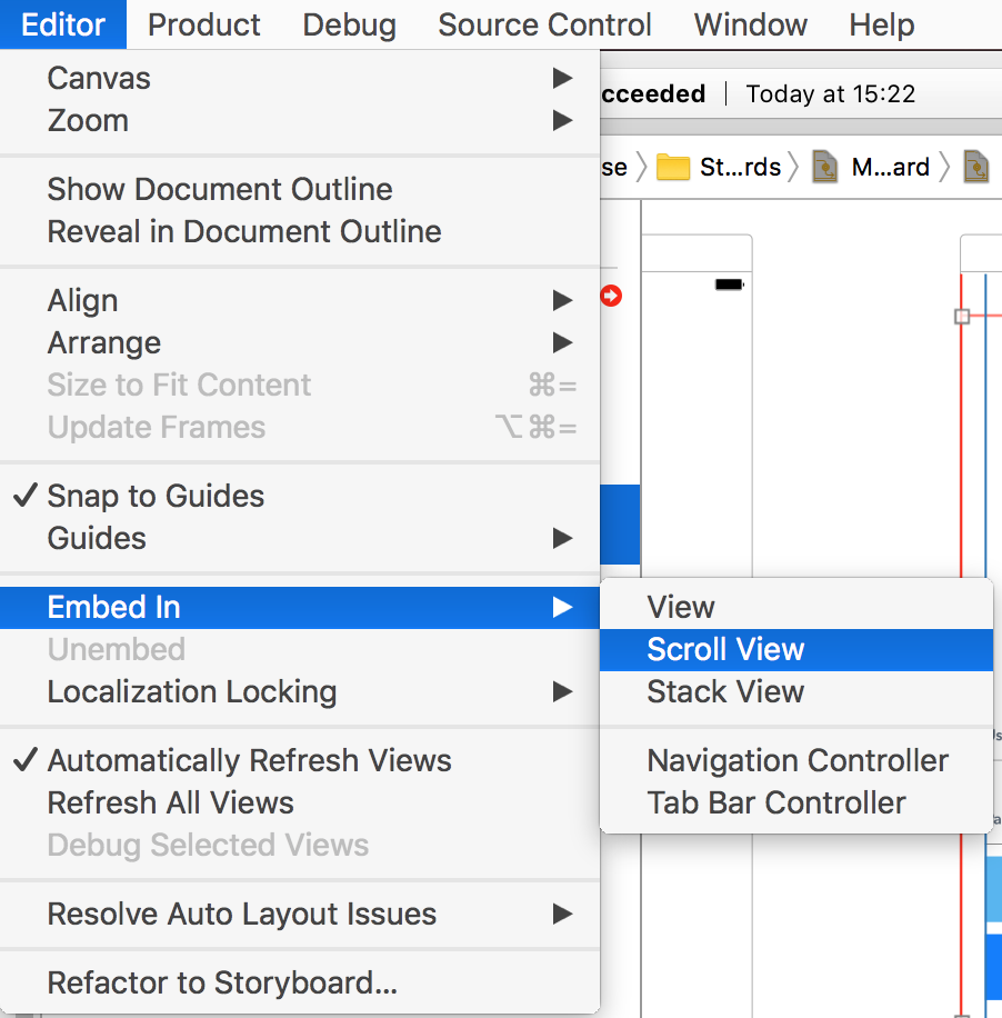 iOS Notes 46 : How to embed ScrollView to the existing view?