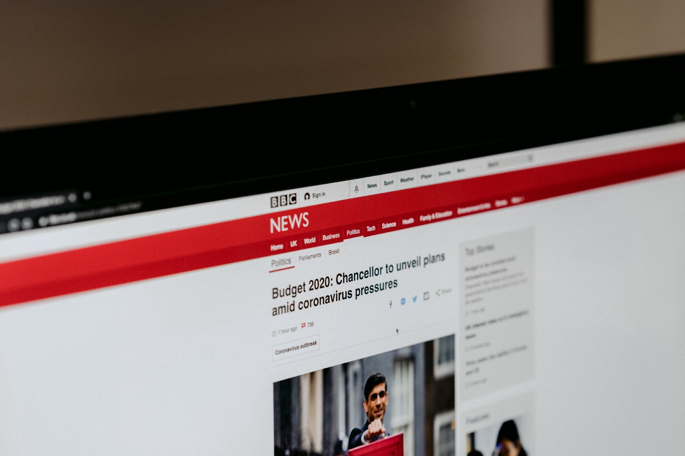 Picture of the BBC News website