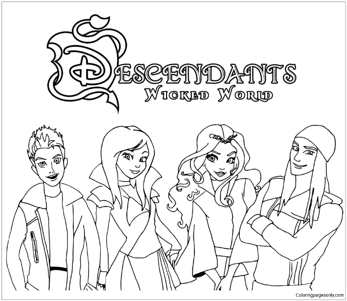 graphic relating to Descendants Coloring Pages Printable referred to as Why Oneself Need to Offer Your Kid Descendants Coloring Internet pages