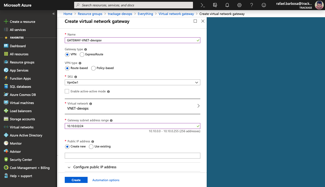 Configure a Point-to-Site connection to a VNet using native Azure