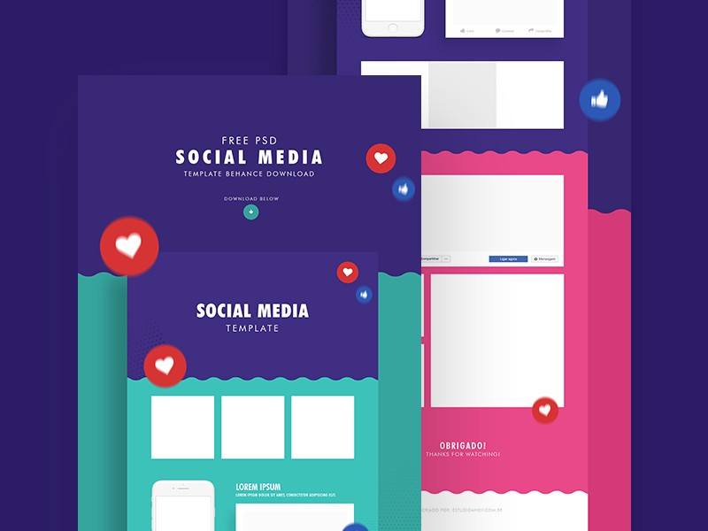 25+ Free Social Media Mockups & Templates - Nastya Esina - Medium