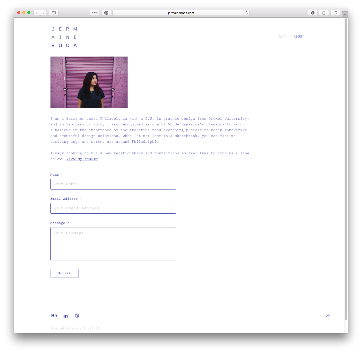 Stay in Touch with a Click: Contact Forms on Adobe Portfolio