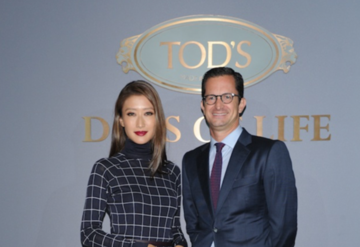 Tod's Asia Pacific Regional Director Igor Poza and Jennifer Tse
