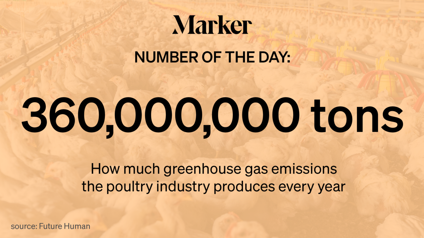 Number of the Day—360 million tons: How much greenhouse gas emissions the global poultry industry produces every year.