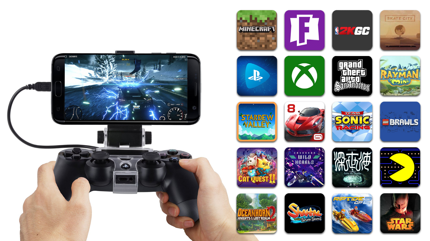 Gravity Grip Mobile Gaming Clip with Games