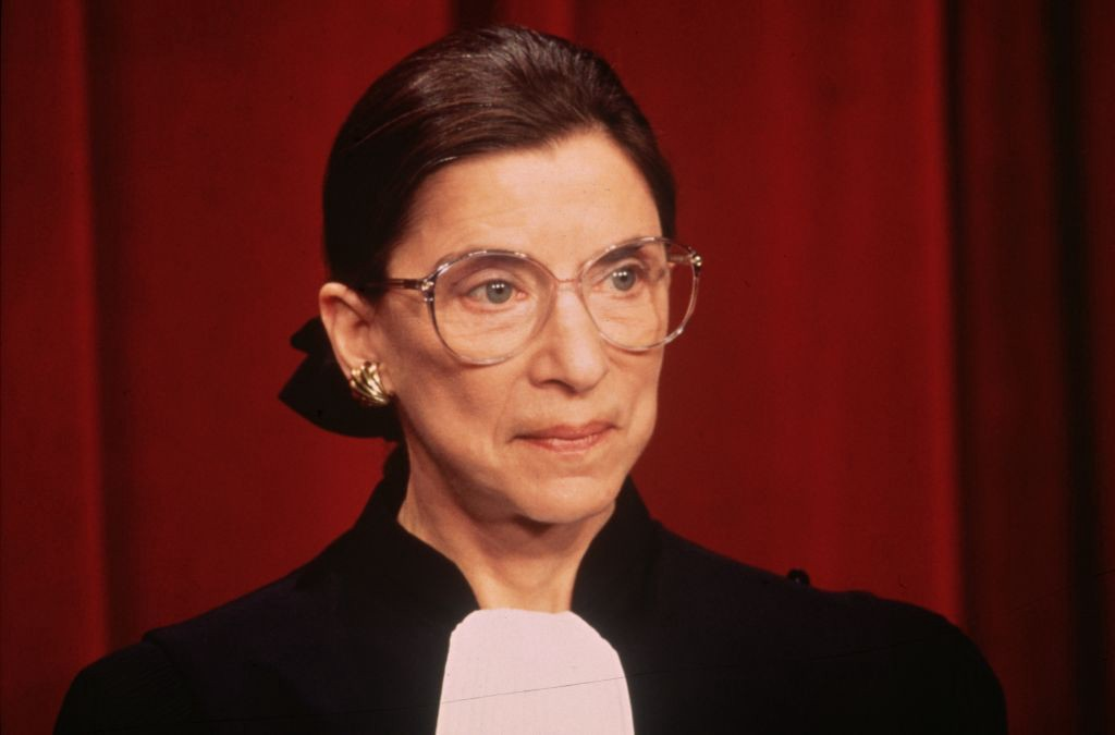 Closeup photo of Ruth Bader Ginsburg.