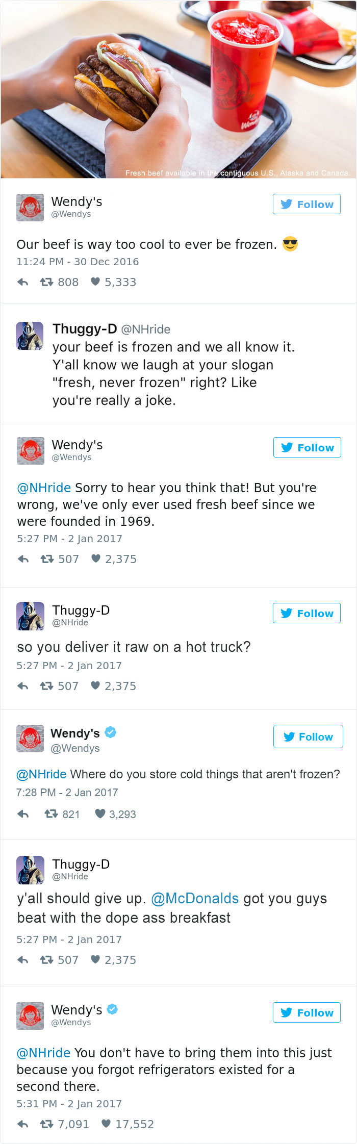 "Wendy's ""Frozen"" Emphasis as well as their verbal Social"
