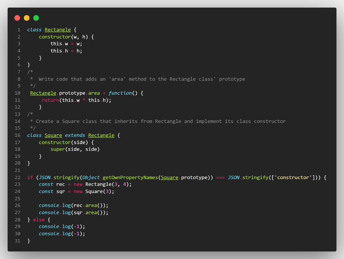 Image of the solution code