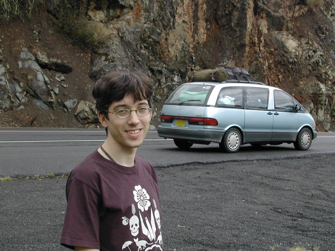 Paul Starr and his 1991 Toyota Previa, Van-Chan.
