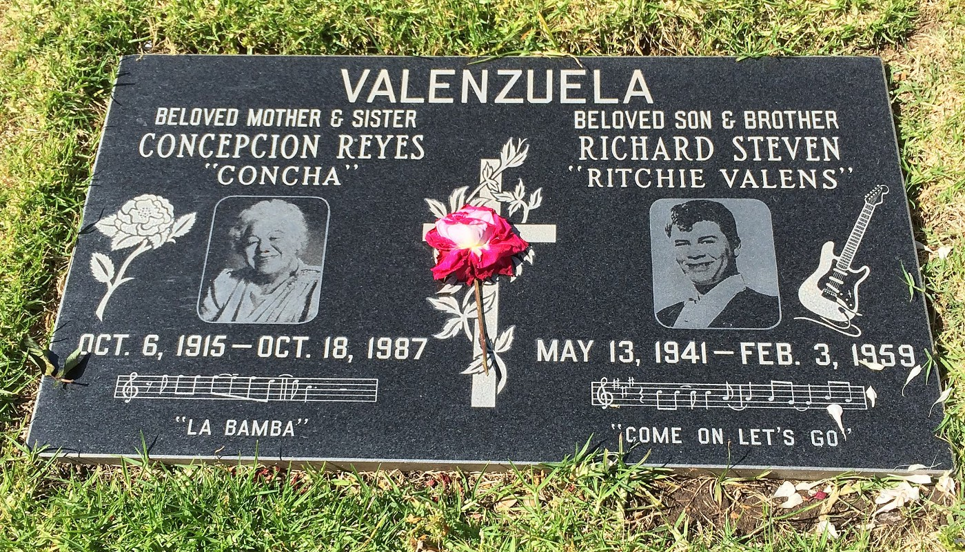 Photo of Grave of Ritchie Valens and his mother in the San Fernando Mission Cemetery