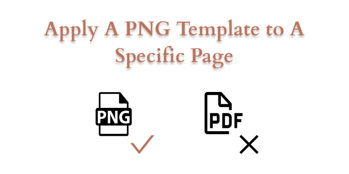 apply a png template