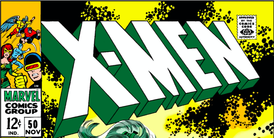 X-Men title from the cover of X-Men #50