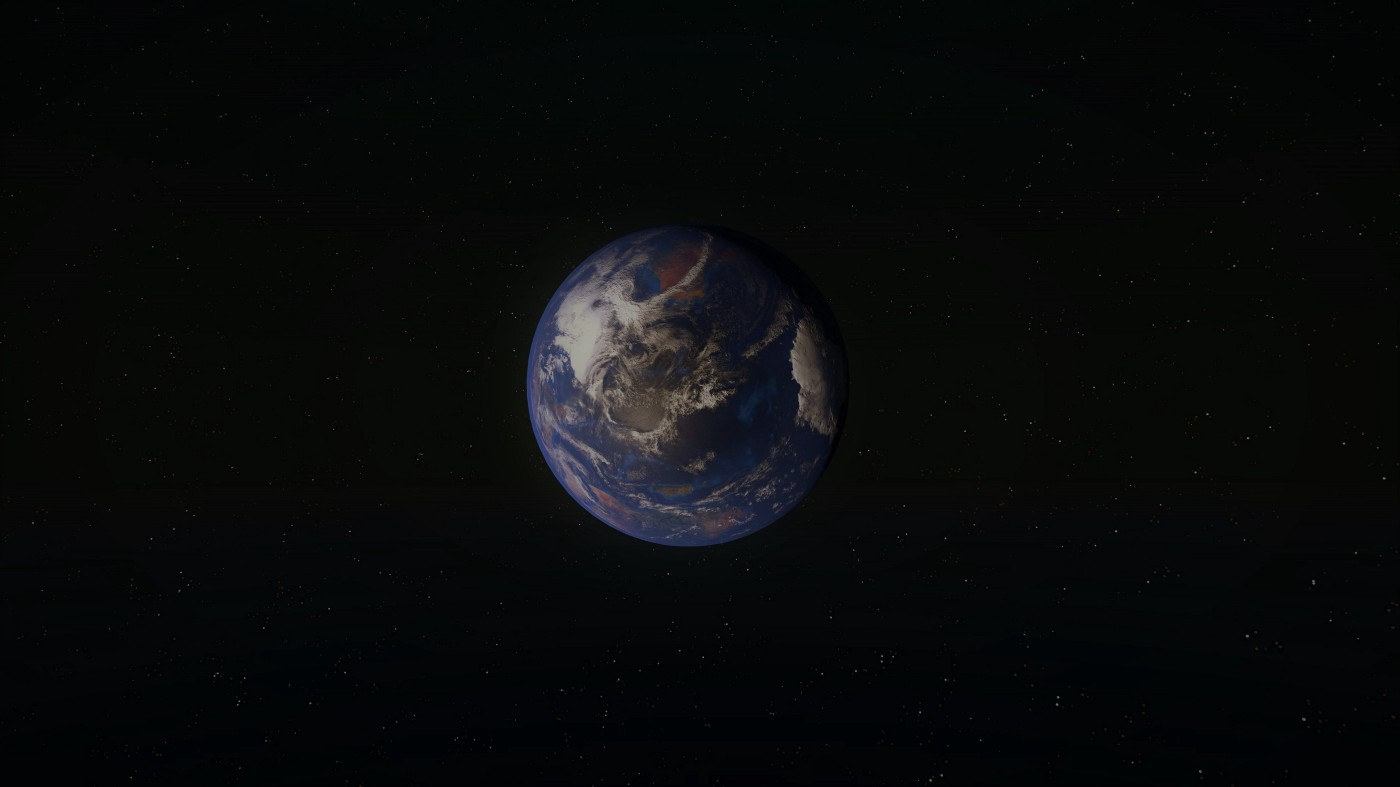 An image of planet Earth, from space.