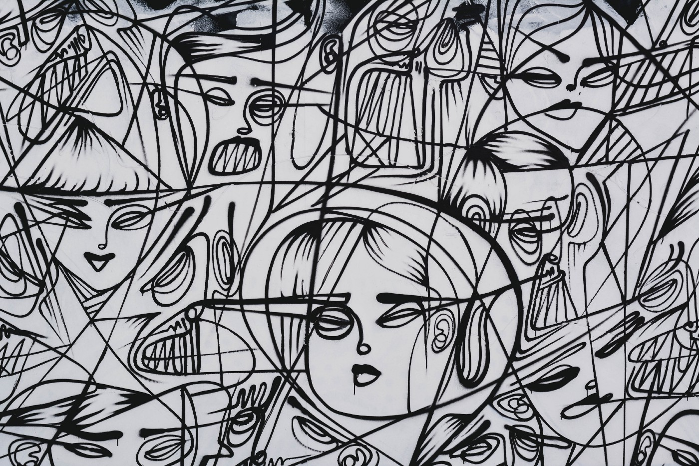 line drawing of multiple people having headaches
