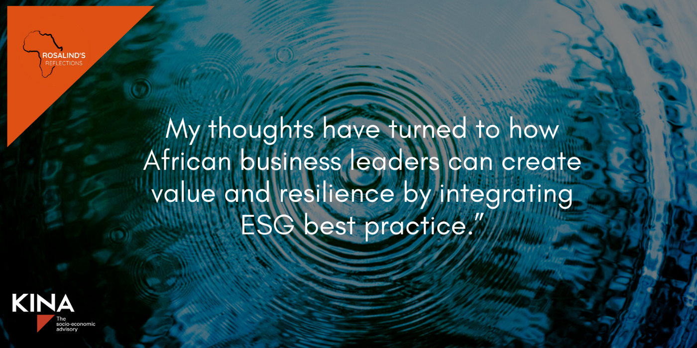 How can African companies create value by integrating ESG best practice? Some practical steps