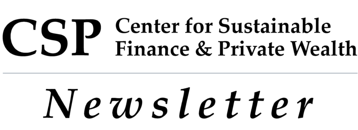 Center for Sustainable Finance and Private Wealth—Newsletter