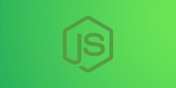 Faded Node.js logo on a Green-lightYellow background