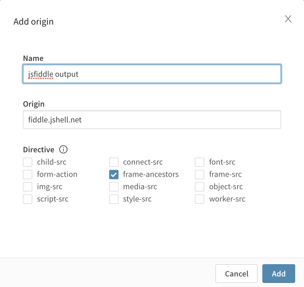 Content Security Policy - Add origin sidepanel