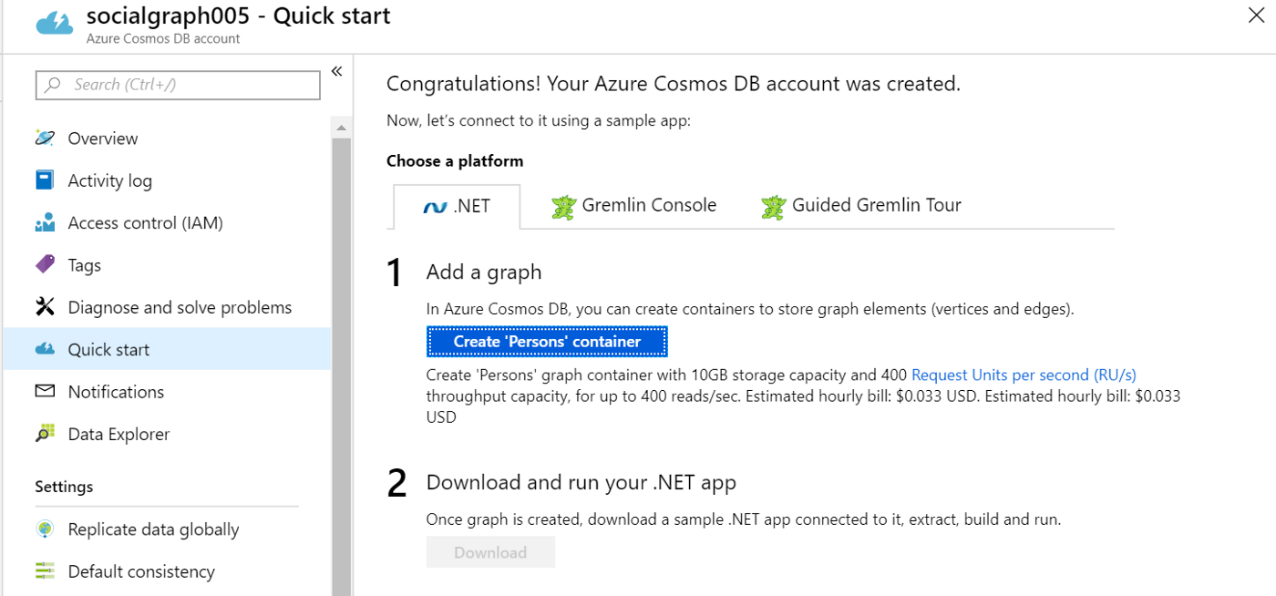 Cosmos Graph database –Big Data processing with Azure Data Factory