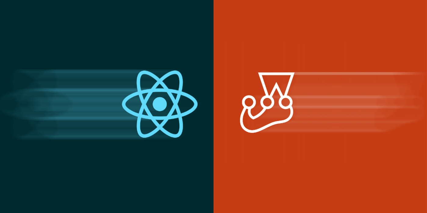 Cover image for this article featuring a React logo along with Jest logo