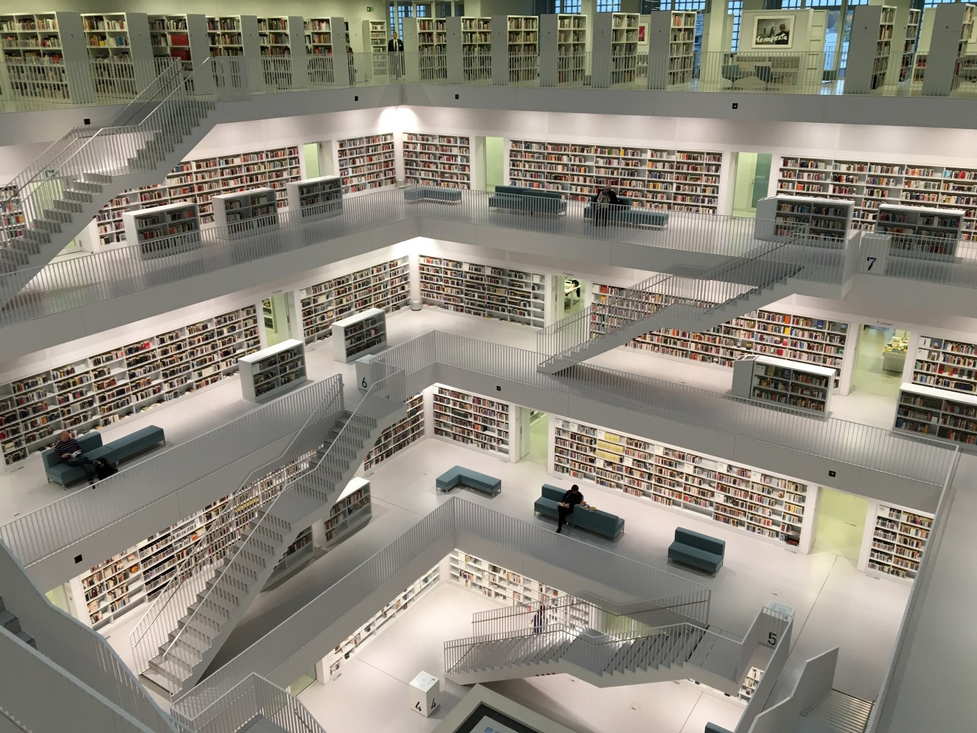 large library of books
