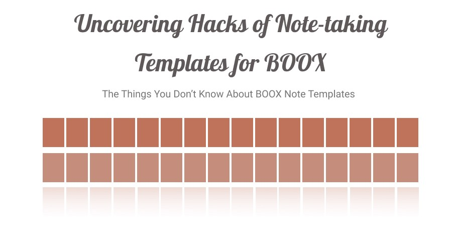 Uncovering Hacks of Note-taking Templates for BOOX