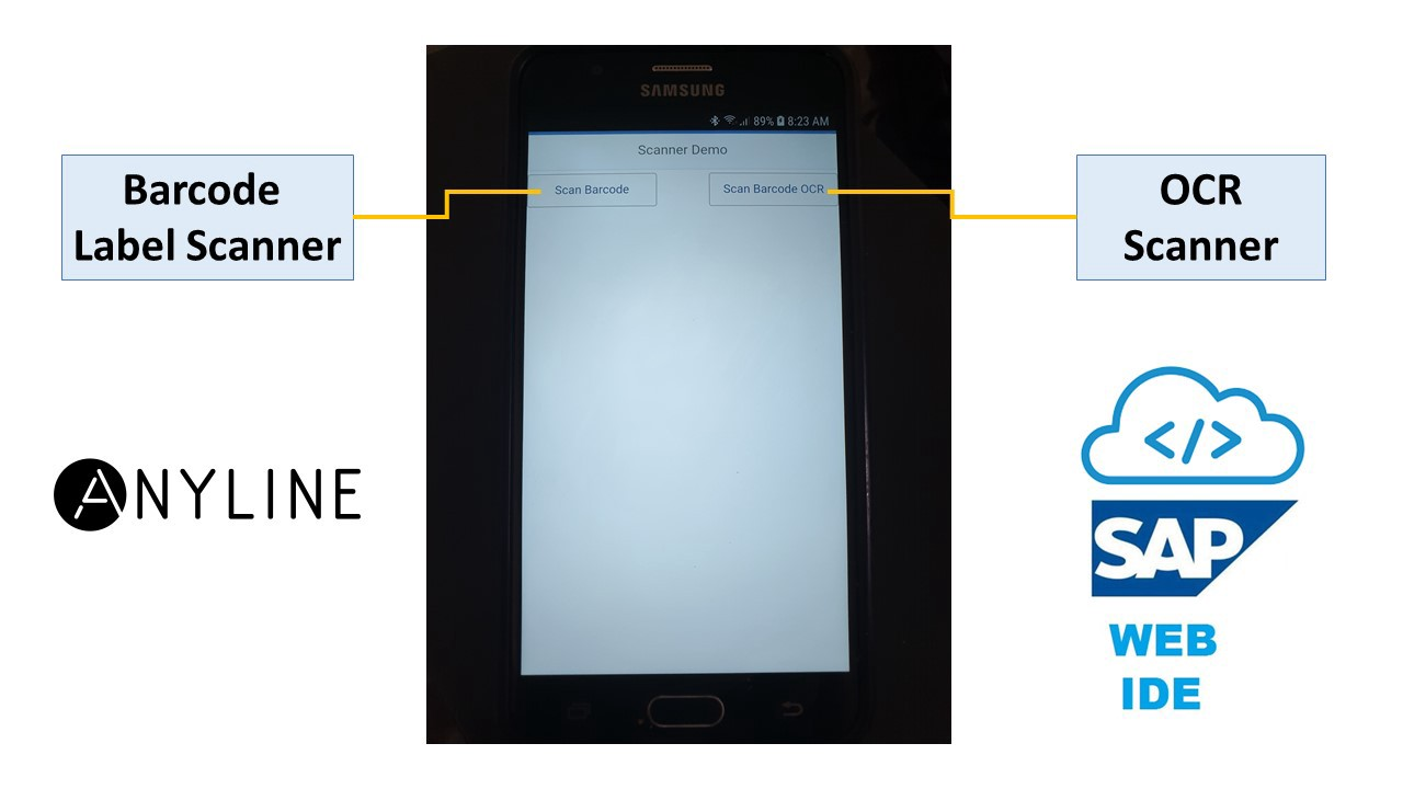 Build Android SAP Fiori OCR Scanner with SAP Web IDE and Anyline OCR SDK