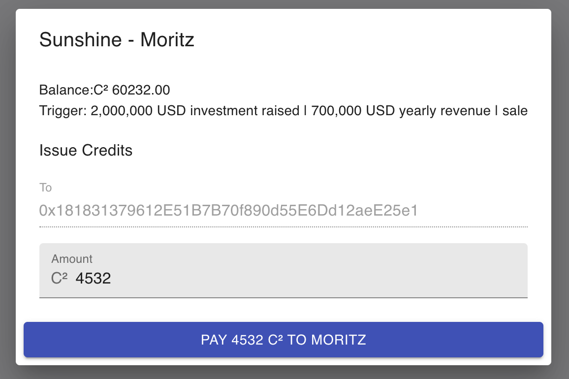 Image of payment screen