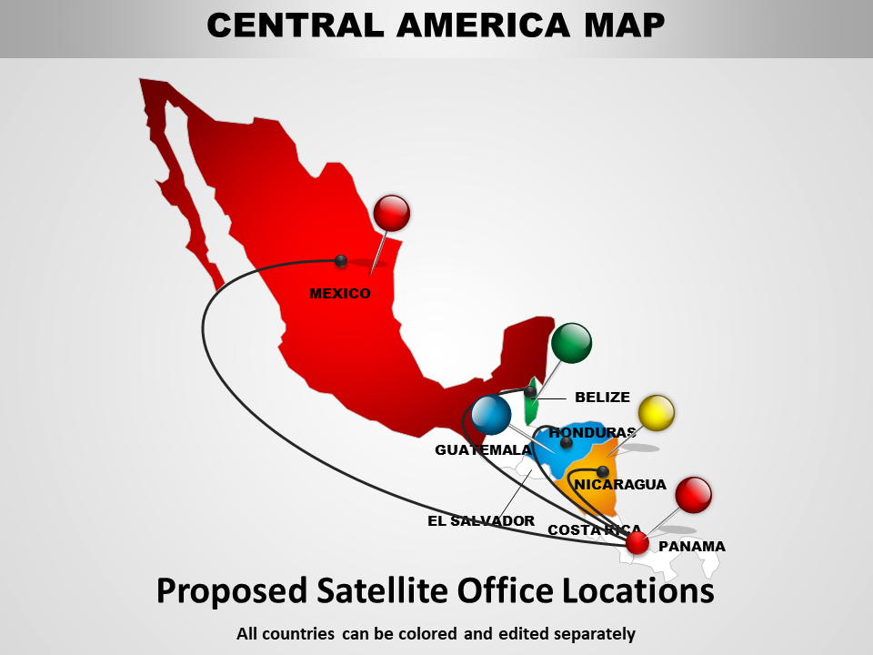 Central America Map And Chart