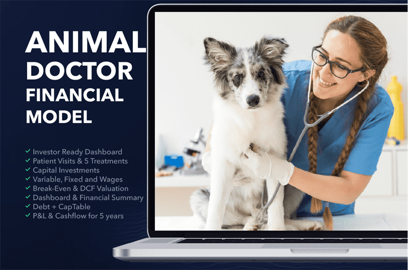 Veterinary business plan financial model excel template
