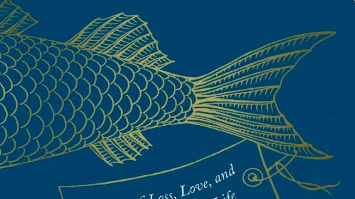 Fish tail. Detail from the book cover of WHY FISH DON'T EXIST.