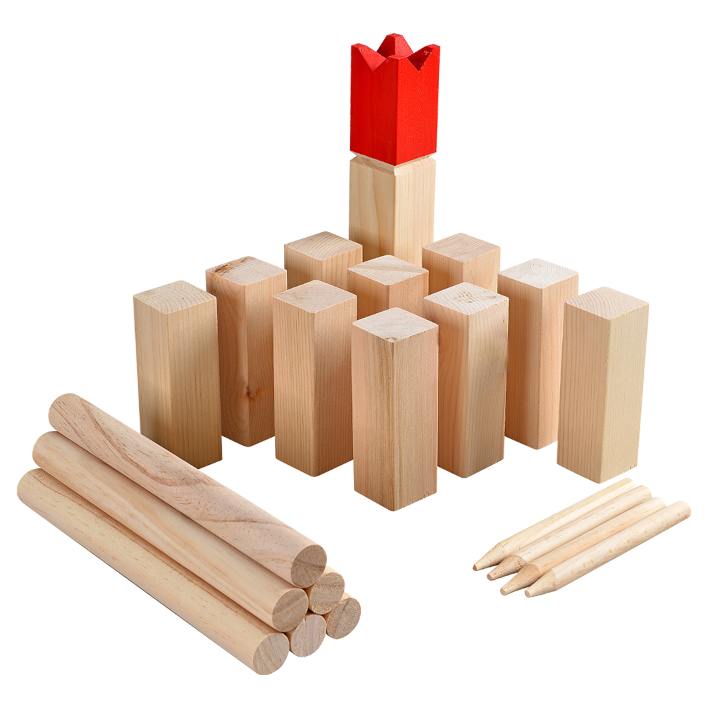 Picture of a kubb set