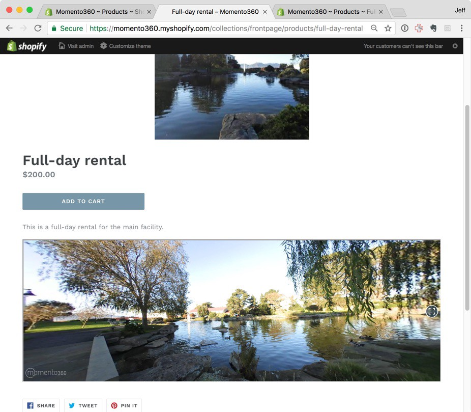 How to add 360 photos to your Shopify online store - The Momento360 Blog