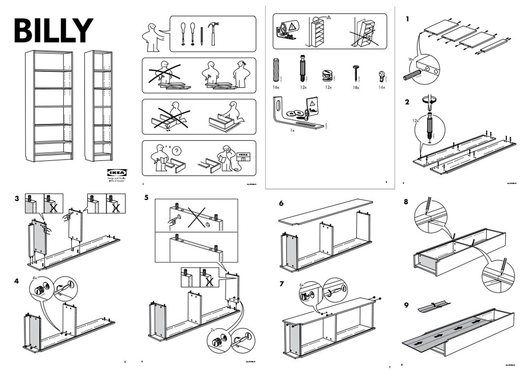 Step by step picture instructions