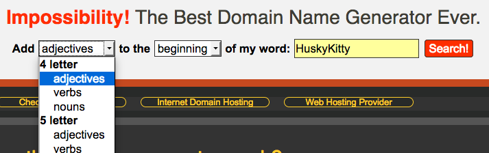 Finding the right domain name when YourBestDot  COM is taken
