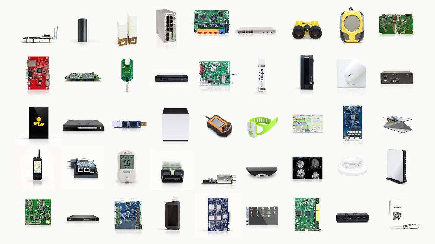 Custom-designed electronic devices and printed circuit boards