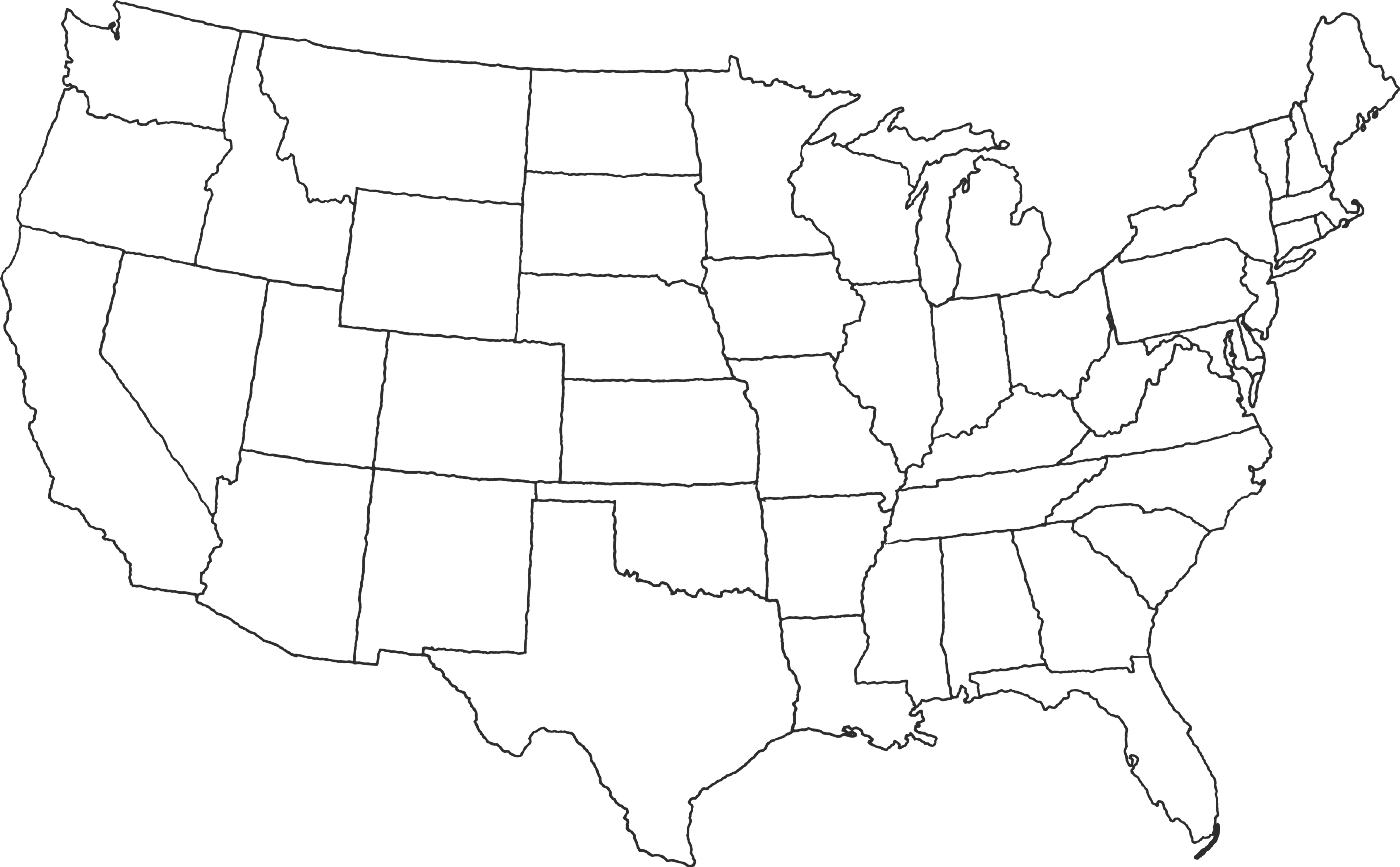Map of Continental United States