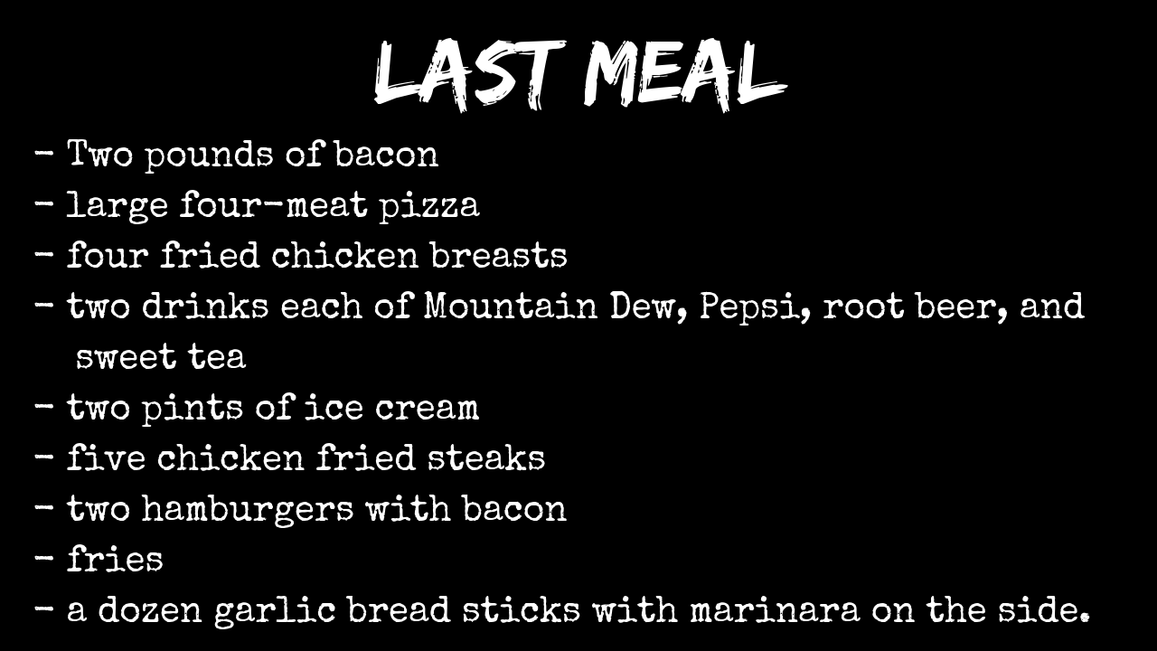 10 Weirdest Last Meal Requests On Death Row - Strange But True - Medium