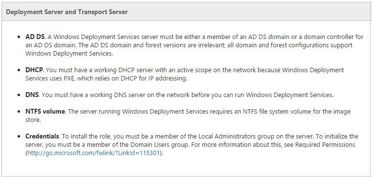 Using Windows Deployment Services to Make Your Life Easy
