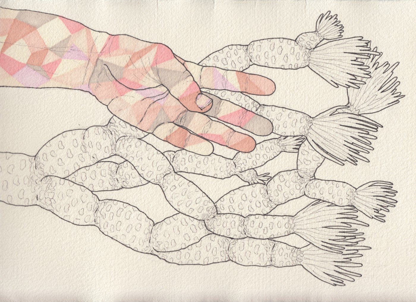 Sincronización — hand-drown image with hands