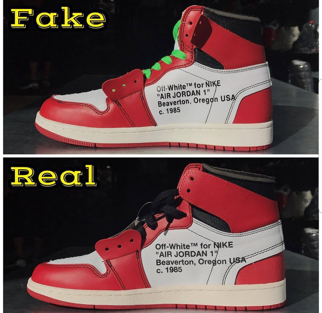 00e374e433f OFF WHITE x JORDAN 1s. REAL VS FAKE - Limits App - Medium