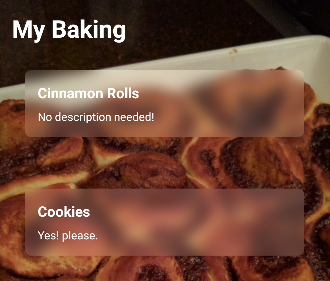 Android Devs, make your Toolbar and View backgrounds frosty