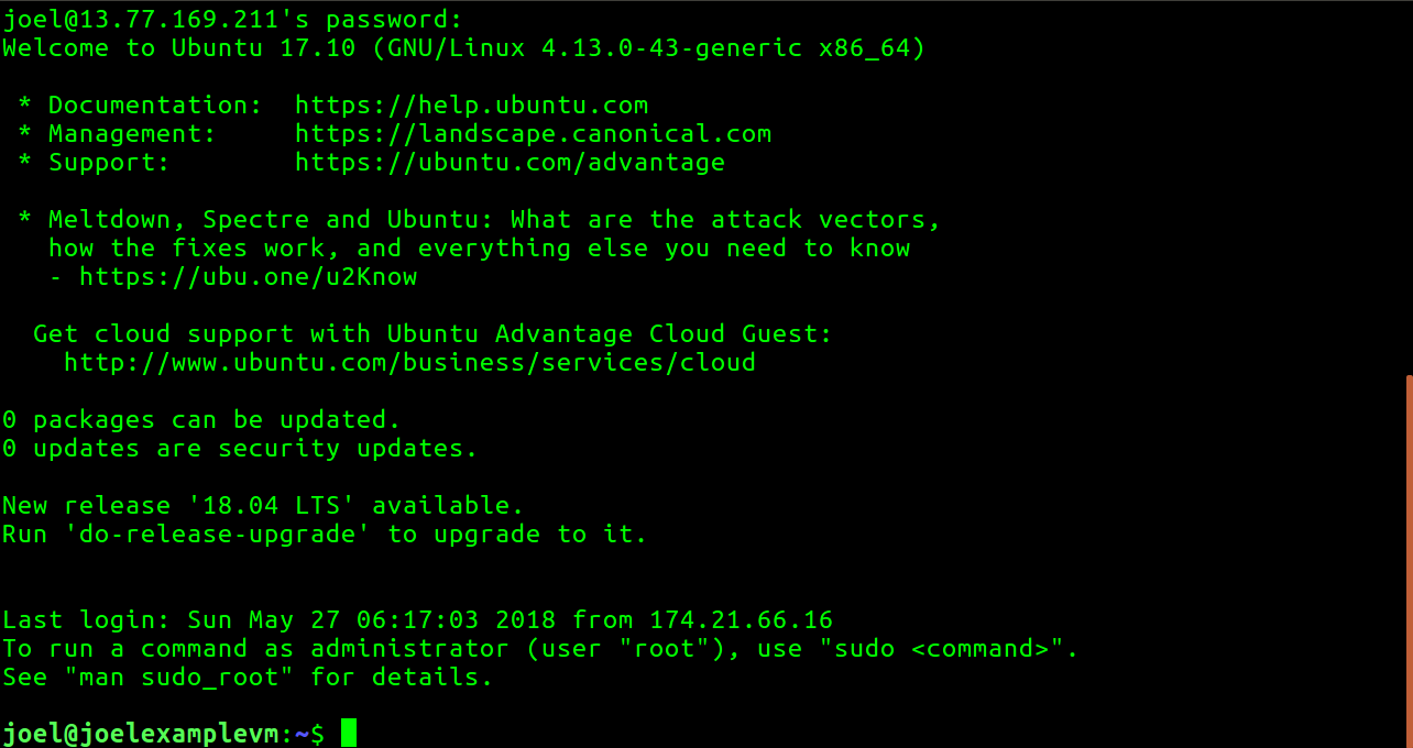 How to: SSH to your Azure Linux VMs with username and password from