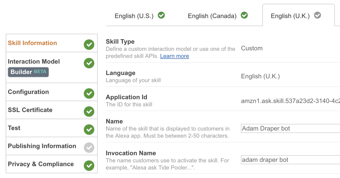 How to Publish Your Amazon Alexa Skill to all the English-speaking
