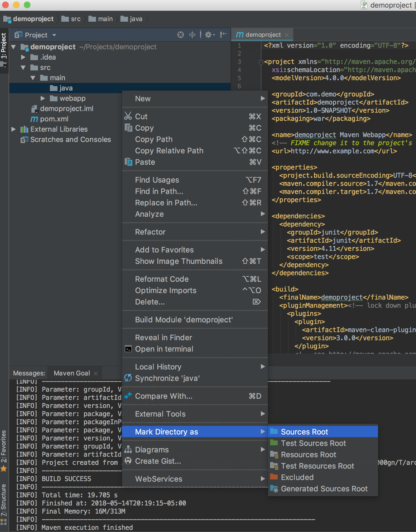 Create a Maven Project with Servlet in IntelliJ IDEA 2018