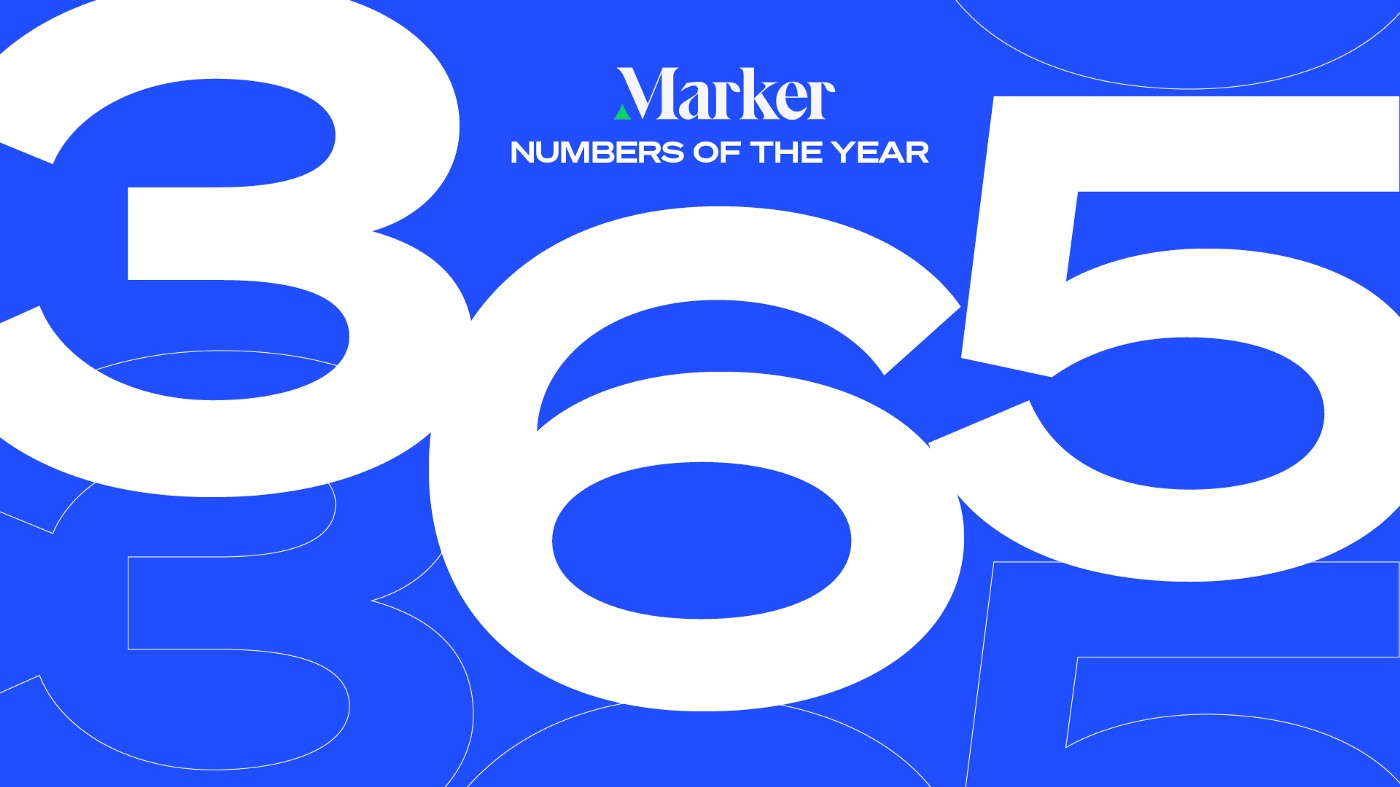"""A graphic with the text """"Marker Numbers of the Year"""" and the number """"365"""" in giant block text below it."""