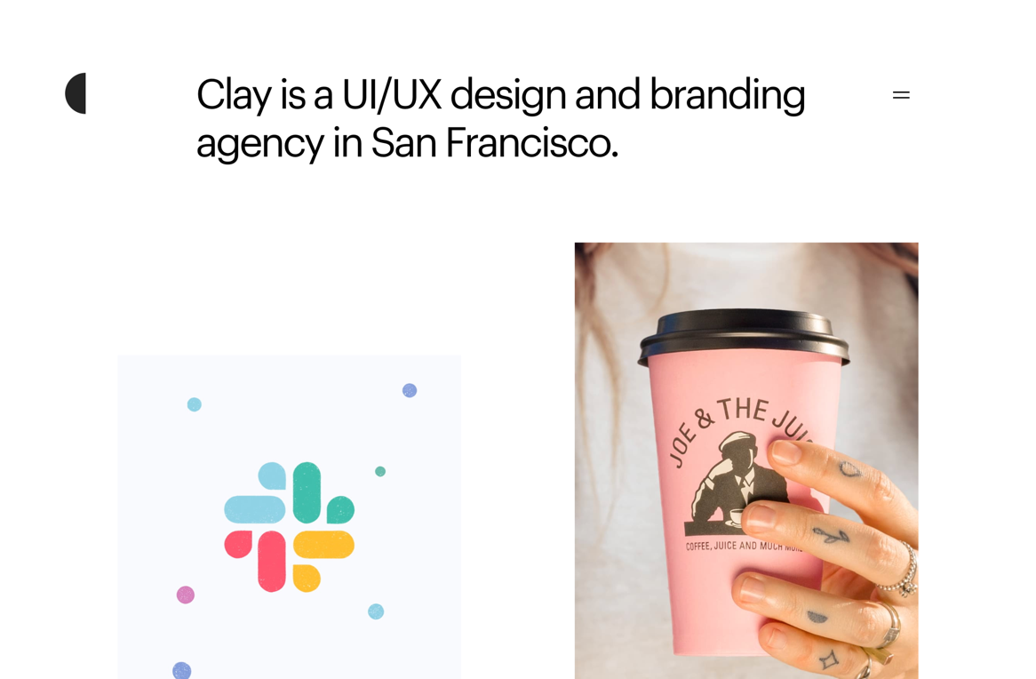 Clay—a branding firm and UX design agency